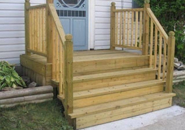 Build Four Step Porch Mobile Home