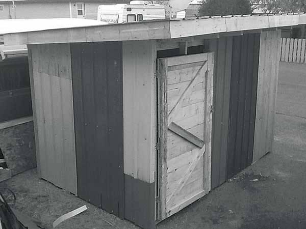 Build Garden Shed Out Pallet Wood Grit