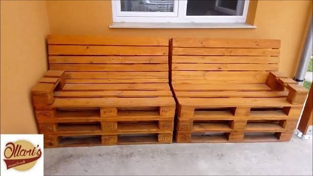 Build Pallet Sofa Step Youtube