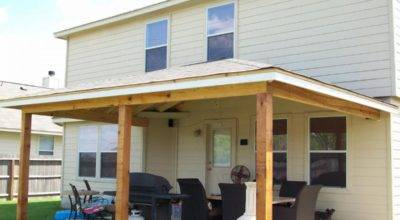 Build Porch Roof Your Own Hands