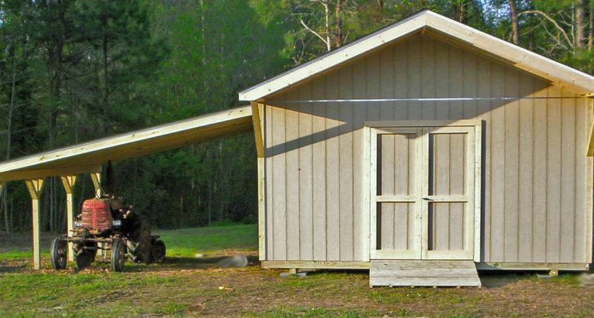 Build Shed Attached Garage