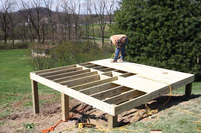 Build Shed Foundation Your Own Hands