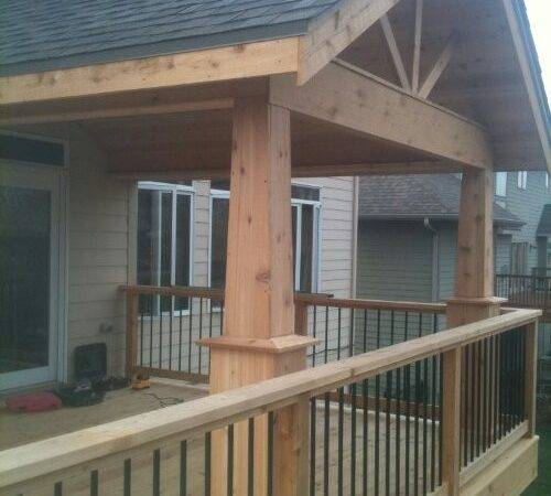 Build Shed Roof Over Deck