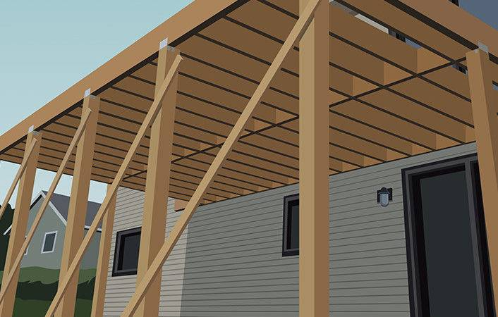 Build Single Level Raised Deck Home Depot