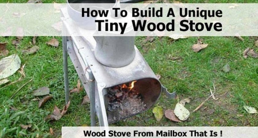 Build Unique Tiny Wood Stove