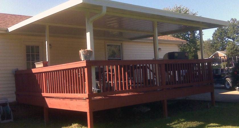 Build Wood Awning Deck