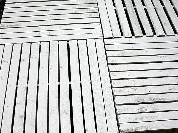 Build Wood Pallet Deck Hoosier Homemade