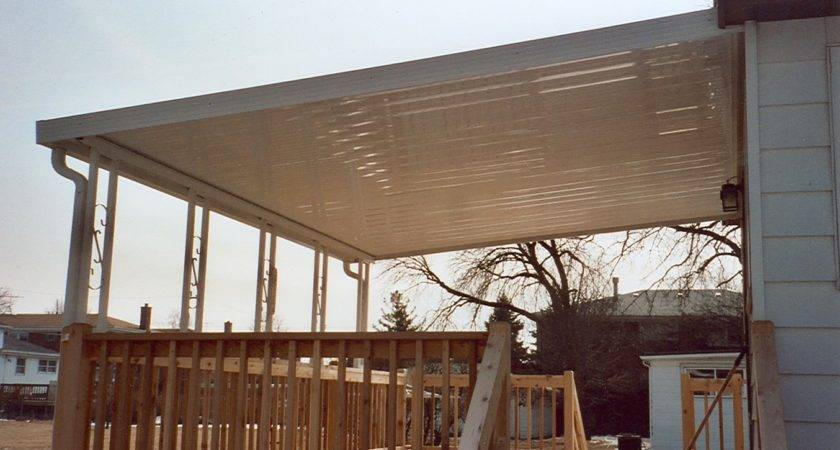 Building Awning Over Deck Cover