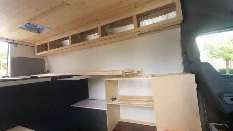 Building Cabinets Sprinter Camper Van Conversion