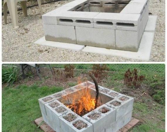 Building Fire Pit Cheap Diy Cinder Block Garden