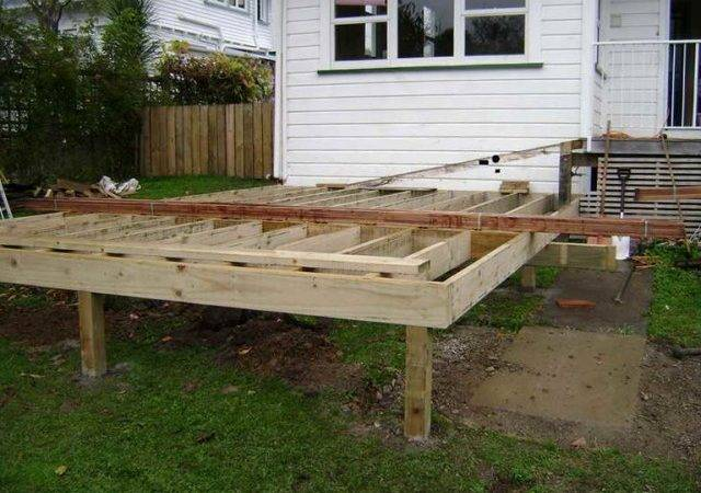 Building Freestanding Deck Step Home Design Ideas