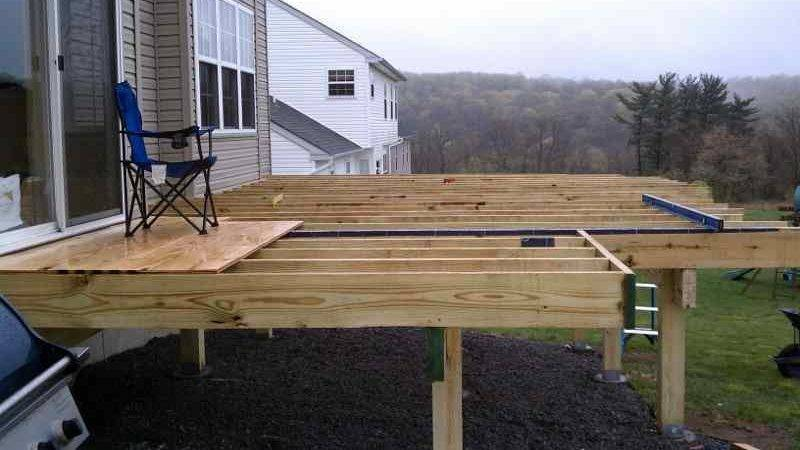 Building Freestanding Deck