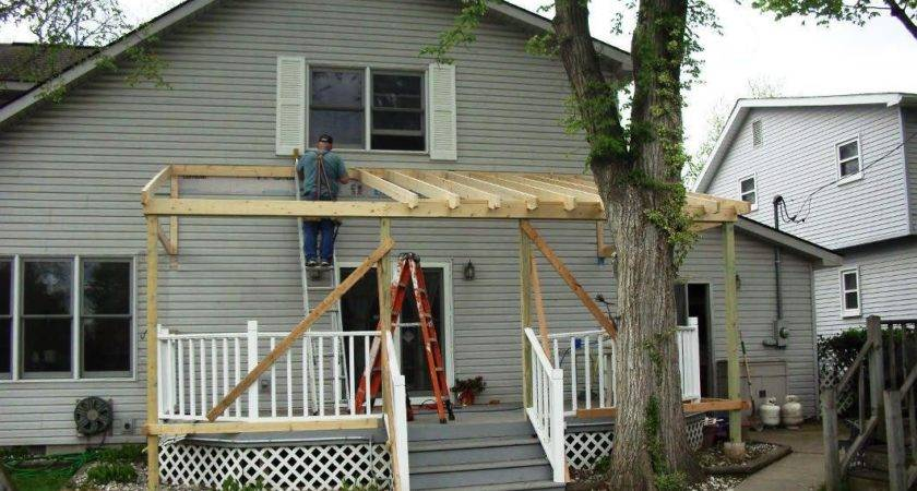 Building Roof Over Deck Shapes Fence Futons