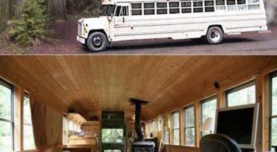Bus Made Into Home Dump Day