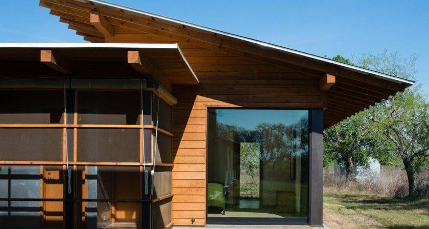 Butterfly Roof Shed Overhang Exterior Modern Screened