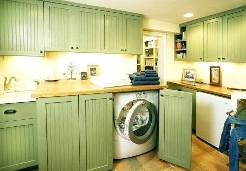Cabinet Doors Hide Washer Dryer