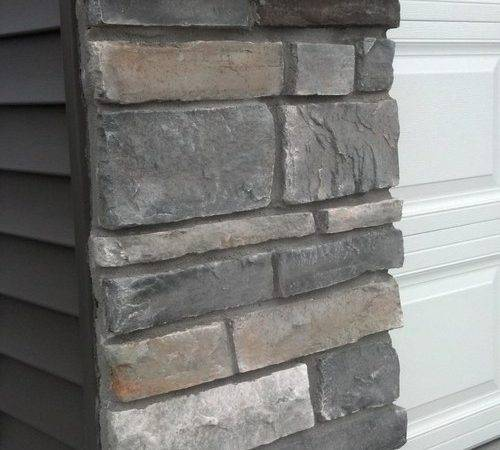 Can Find Dark Gray Vinyl Siding Stone