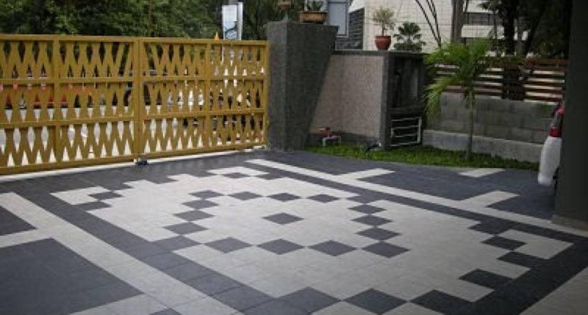 Car Porch Tiles Design Pattern Malaysia Tile Ideas