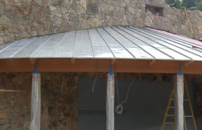 Cedar Shakes Shingles Curved Lead Coated Copper Roof