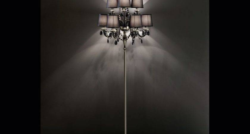 Chandelier Floor Lamp Diy Crystal