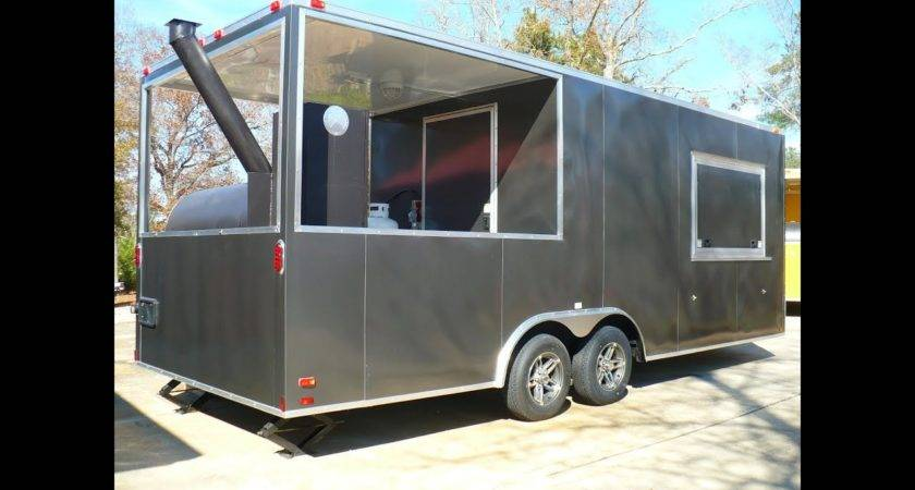 Charcoal Grey Bbq Porch Concession Trailer Sold Youtube