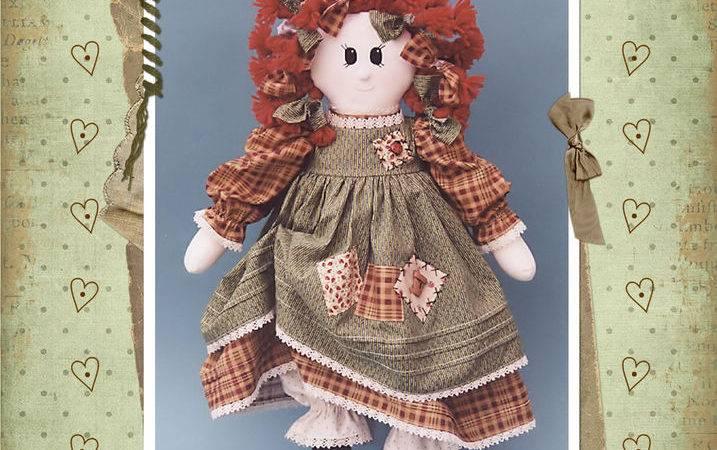 Charlotte Sewing Craft Pattern Rag Doll Primitive Prim