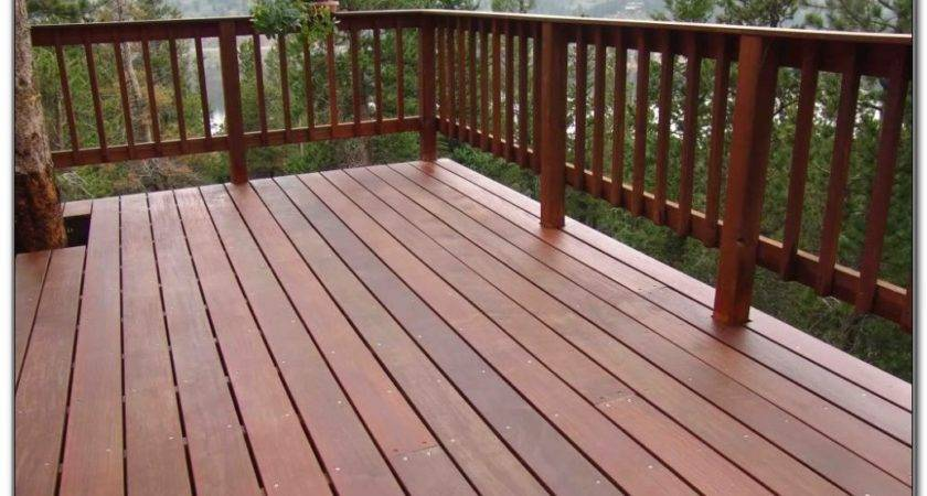 Cheap Wood Deck Railing Decks Home Decorating Ideas