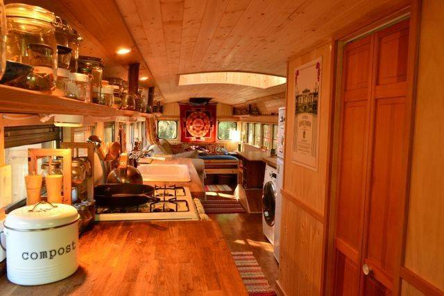 Check Out Awesome Tiny House School Bus Conversion