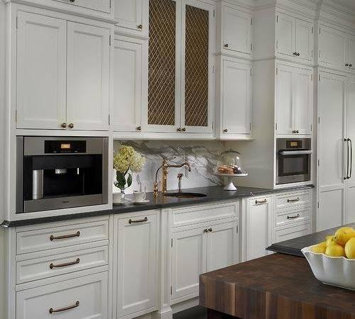 Chicken Wire Cabinet Doors Transitional Kitchen