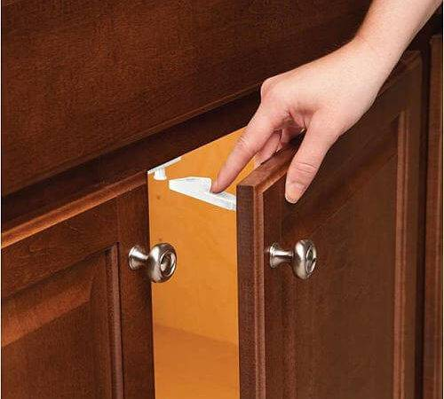 Childproof Cabinets Without Drilling Knotty Alder