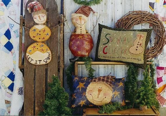 Christmas Snowman Pattern Primitive Snowmen Epattern Pdf