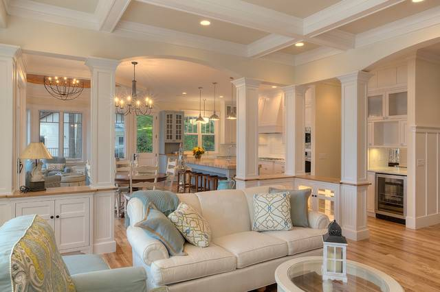 Classic Cottage Beach Style Living Room Other