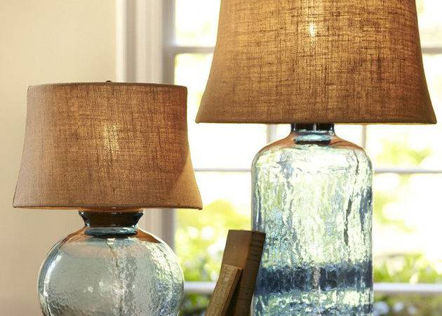 Colored Glass Table Lamps Pottery Barn Clift