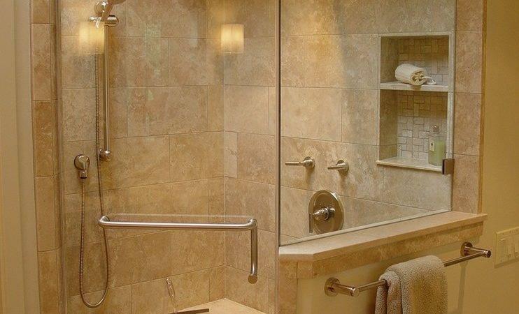 Corner Shower Bathroom Traditional