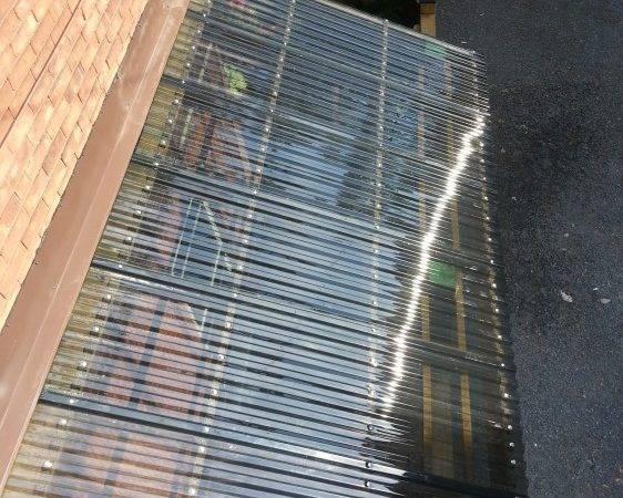 Corrugated Roofing Under Deck