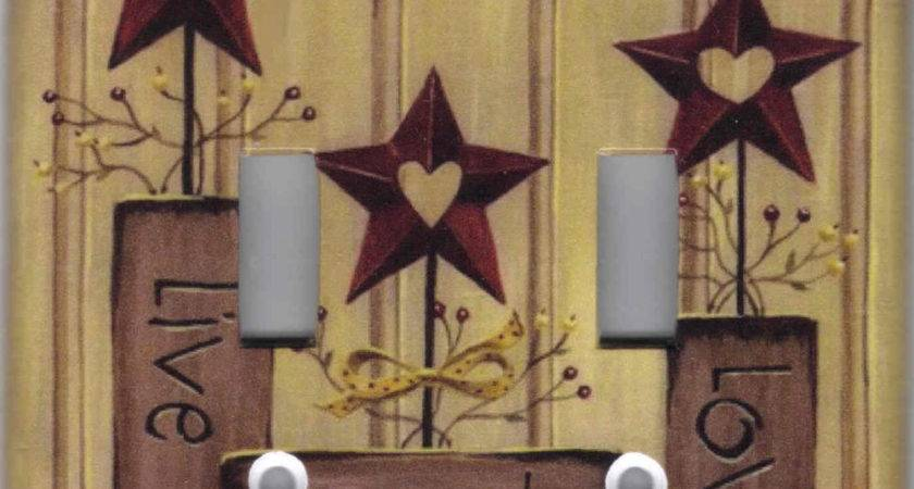 Country Barn Star Live Love Laugh Home Decor Double Light