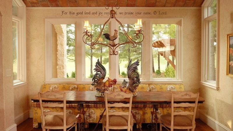 Country Kitchen Table Decor Photograph French Kitc