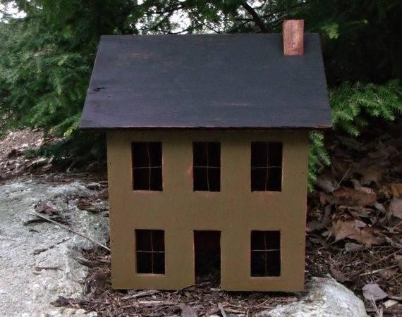 Country Primitive Saltbox House Handmade Edscountrysaltbox