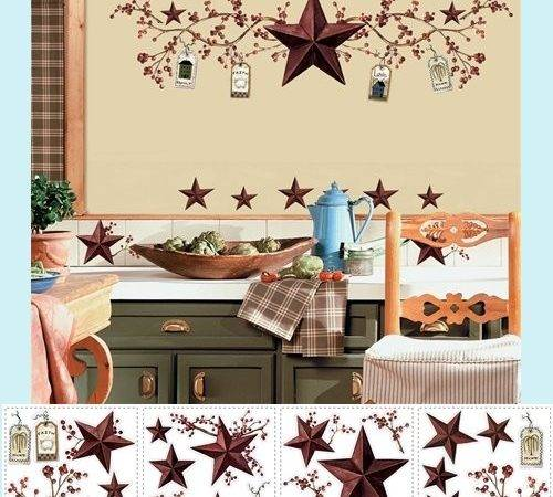 Country Stars Berries Wall Stickers