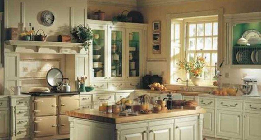 Country Styled Kitchen Decorating Ideas Pastel
