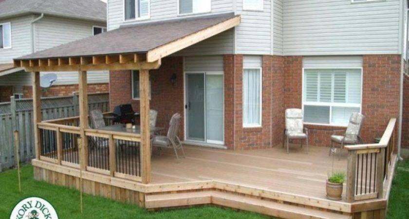 Covered Decks Ideas Roof Over Deck Plans Diy Build