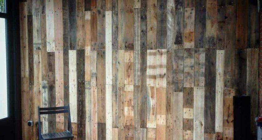 Covering Wall Veranda Discarded Pallets
