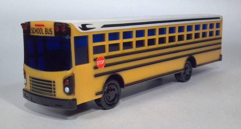 Custom Blue Bird All American School Bus Bank