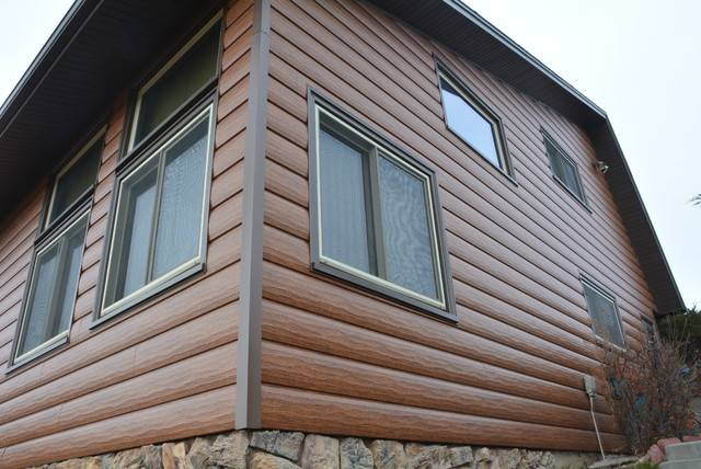 Custom Log Home Steel Siding Cheyenne Rustic