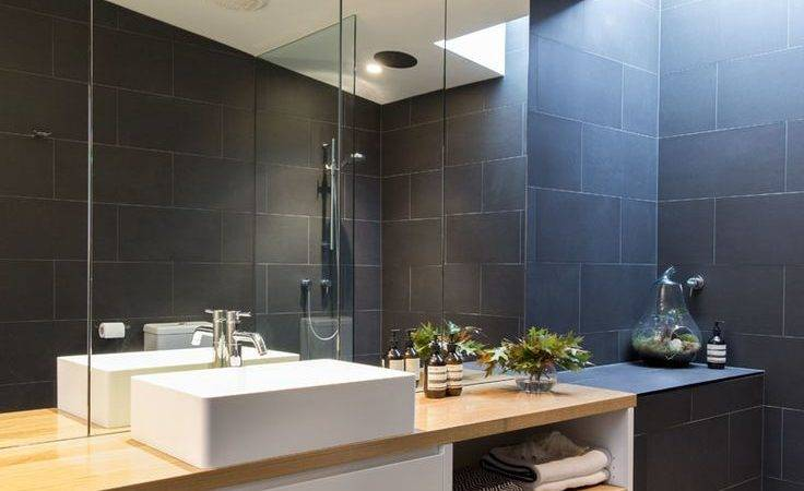 Dark Bathroom Extraordinary Home Design