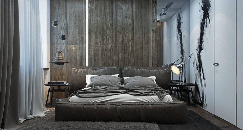 Dark Calming Bachelor Bad Natural Wood Concrete