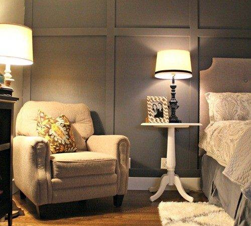 Dark Gray Accent Wall Thrifty Decor Chick
