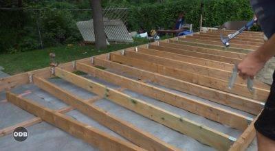 Deck Build Ground Level Plans Outdoor