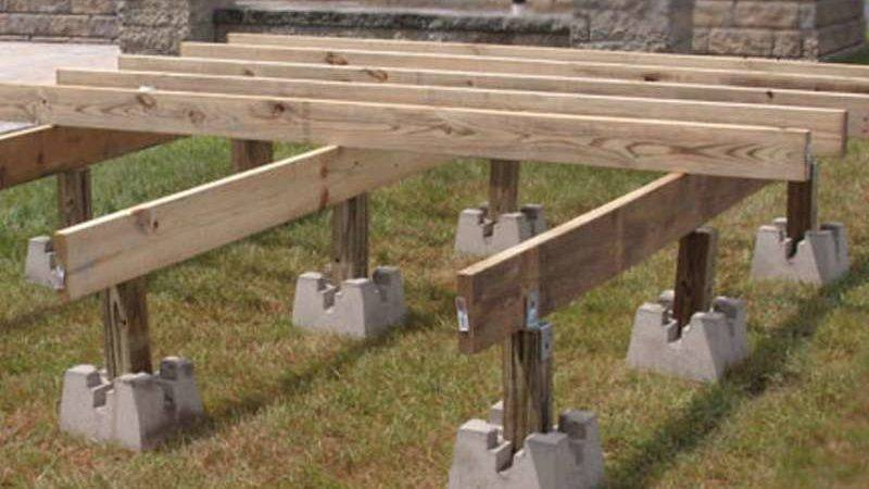 Deck Piers Pier Blocks Project Doherty House Ideal
