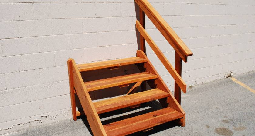Deck Stair Redwood Store